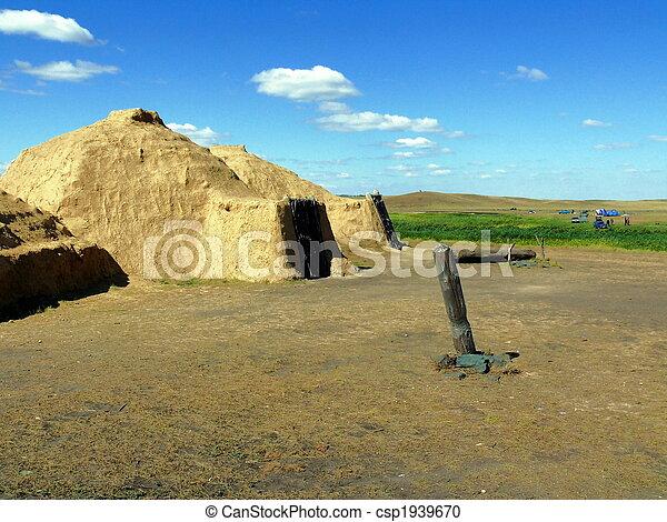house of stone age (reconstruction) - Arkaim - csp1939670