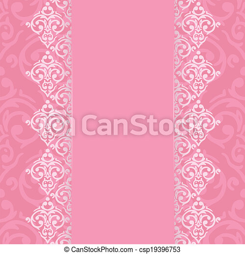 Vector seamless damask pattern - csp19396753