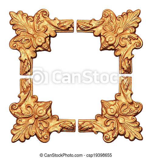 old antique gold frame.  - csp19398655