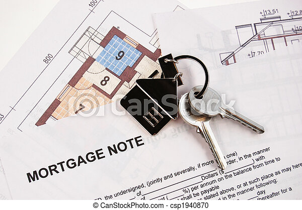Keys on mortgage note - csp1940870