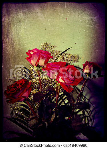 Vintage Photo of Roses