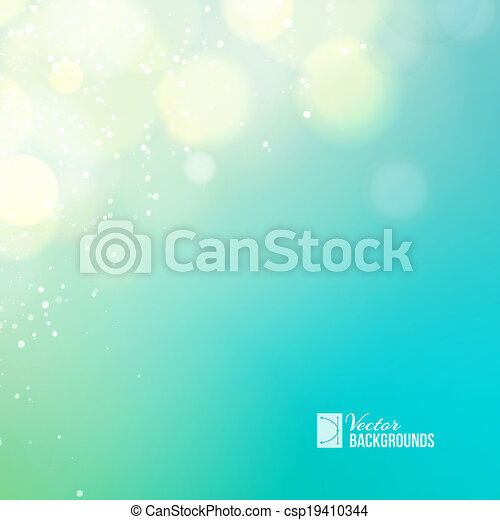 Blue lights background - csp19410344