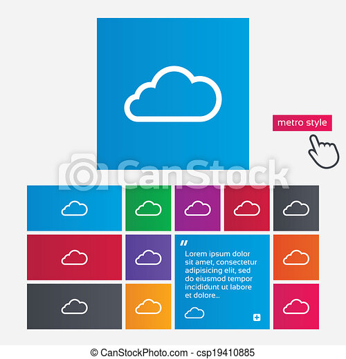 Vector - Cloud sign icon. Data storage symbol. - stock illustration ...: canstockphoto.com/cloud-sign-icon-data-storage-symbol-19410885.html