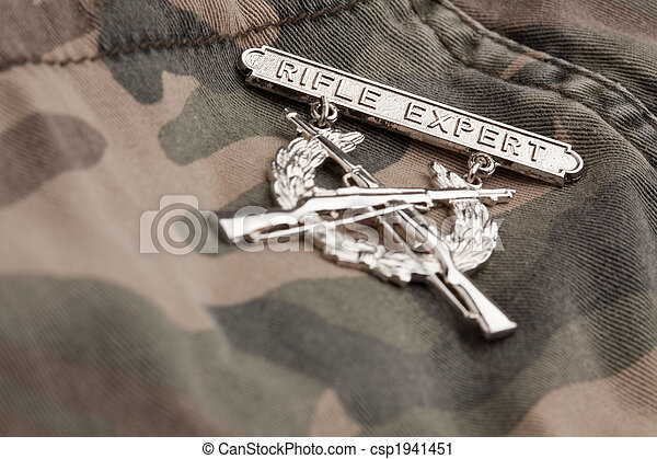 Rifle Expert War Medal - csp1941451