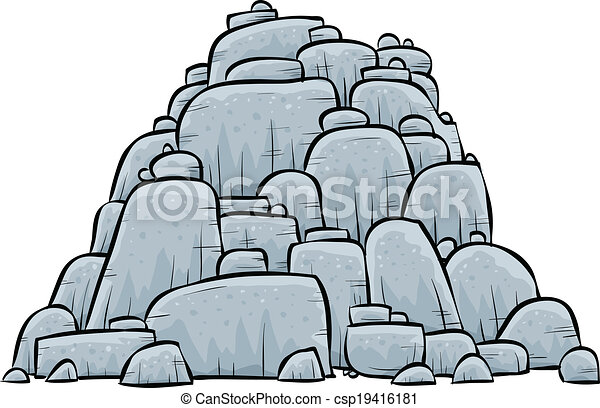 Boulders Illustrations and Clipart. 1,860 Boulders royalty free ...