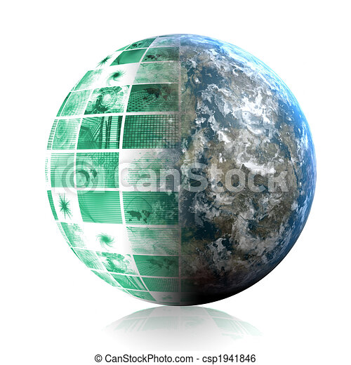 Telecommunications Industry Global Network - csp1941846