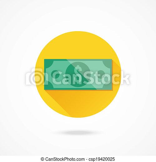 Vector - Vector Dollar Bill Icon - stock illustration  royalty free    Dollar Bill Icon Vector