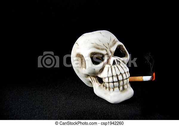 Joint de fumer le crâne