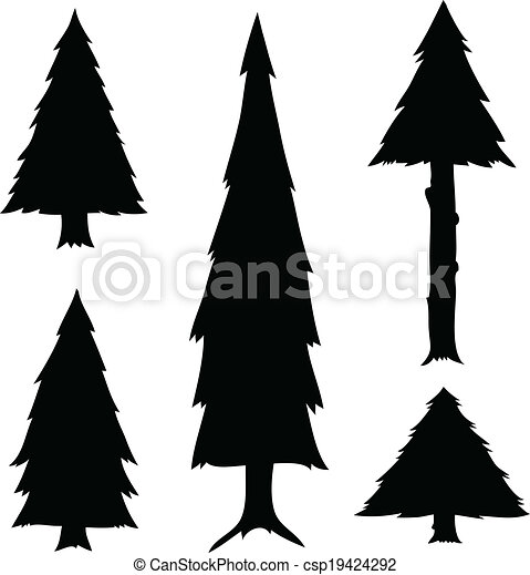 Clip Art Evergreen Tree Clipart evergreen tree vector clipart eps images 8851 cartoon trees a set of tree