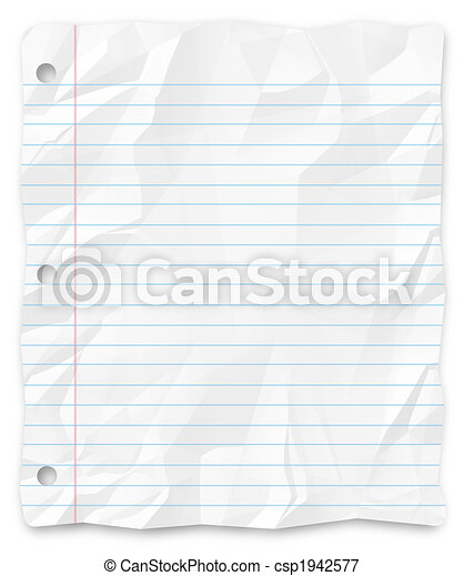 Student Writing Paper - Lined and Three-Hole Punched - csp1942577