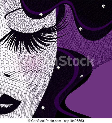 face with veil - csp19426563
