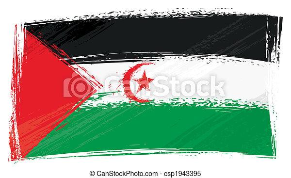 Grunge Western Sahara flag - csp1943395