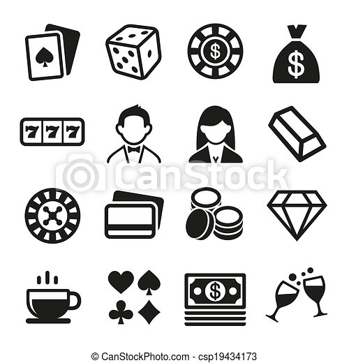 Gambling and Casino Icons Set. Vector - csp19434173