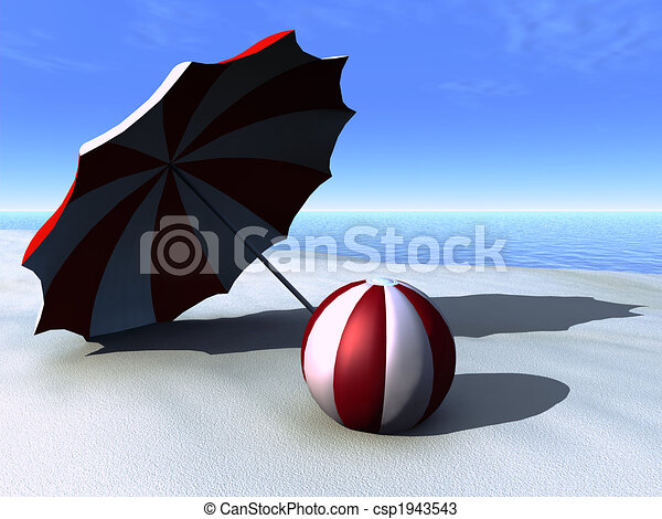 dessins de plage soleil plage balle parasol a soleil parasol csp1943543. Black Bedroom Furniture Sets. Home Design Ideas