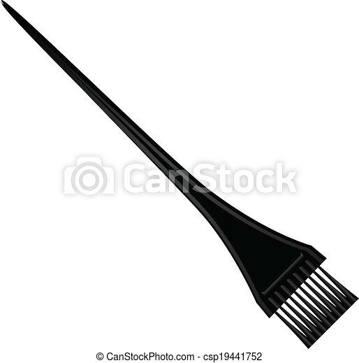 Clipart Vector Of Hair Dye Brush Cosmetic Brush For Hair