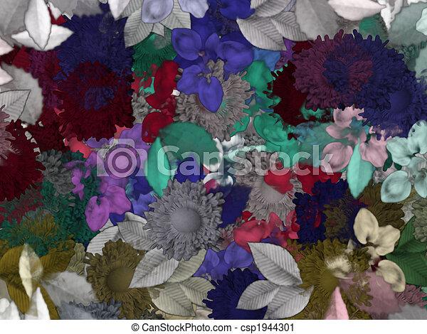 blommig, mönster, bakgrund - csp1944301
