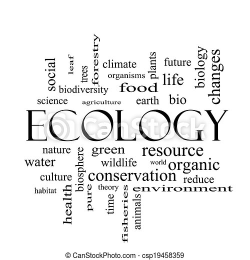 Stock Illustrations of Ecology Word Cloud Concept in black and ...