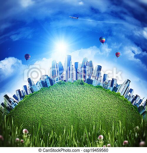 Global eco transportation concept for your design - csp19459560