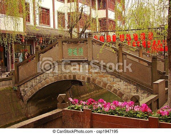 Sichuan Canal Street Stone Bridge - csp1947195
