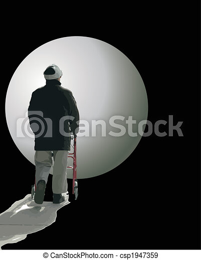 Man walking into the unknown - csp1947359