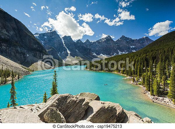 Moraine Lake, Banff National Park - csp19475213