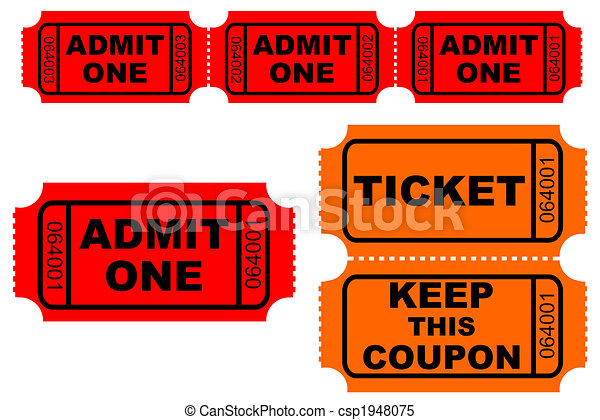 Raffle Tickets Clipart Admission and raffle tickets