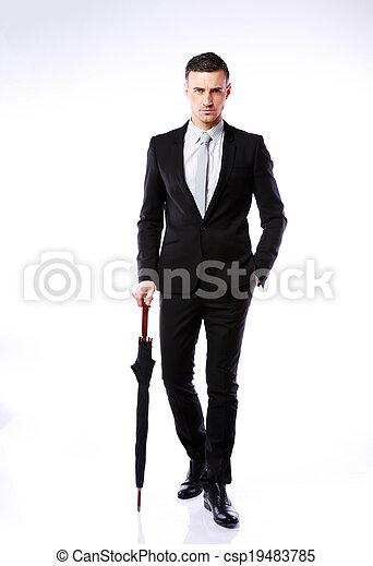 Immagini di standing ombrello pieno lunghezza fiducioso for Piani di garage free standing