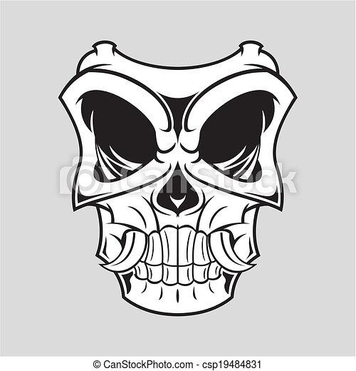 Vecteurs de horreur masque illustration de noir - Dessin horreur ...