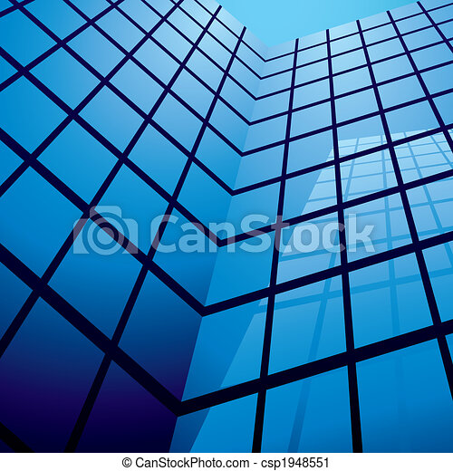 office building reflection - csp1948551