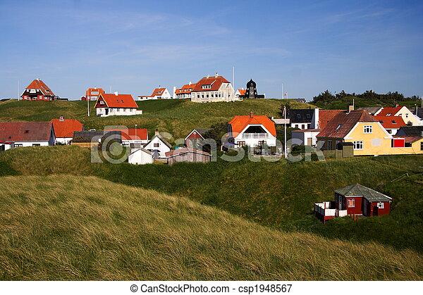 Casas, en, Dinamarca - csp1948567