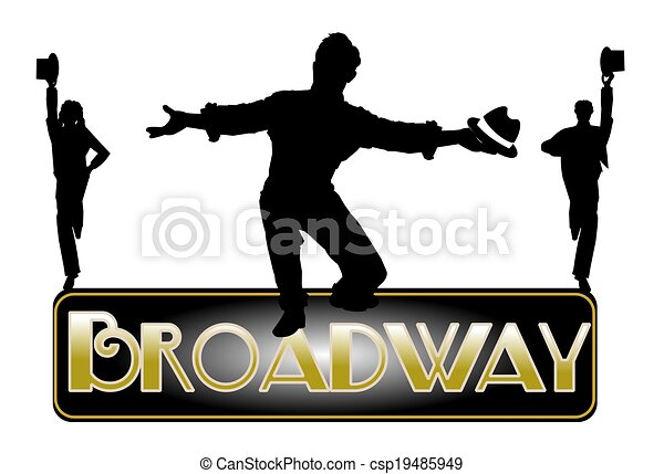 Drawing of broadway concept with principle male dancer csp19485949 - Search Clip Art ...