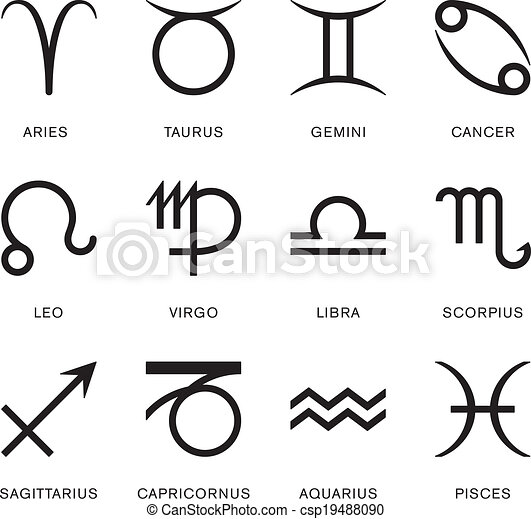 Signs Of The Zodiac - csp19488090