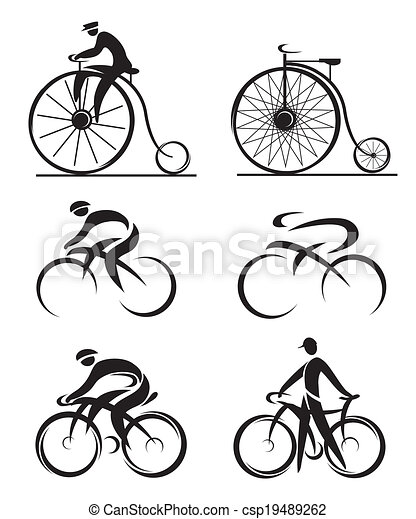 Cycling differently styled icons - csp19489262