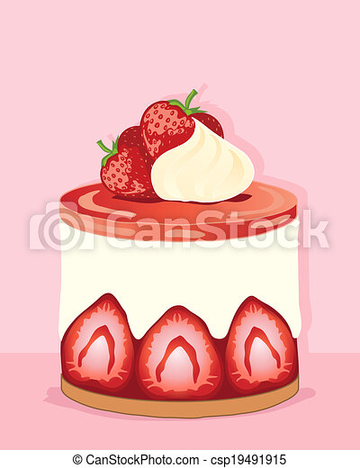Strawberry cheesecake Clip Art and Stock Illustrations. 218 ...