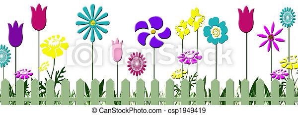 Charming Floral Garden   Csp1949419