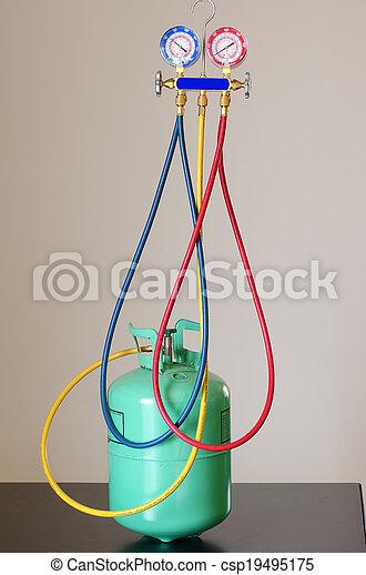 HVAC Gauges and Freon - csp19495175