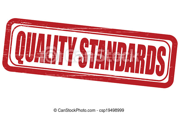 EPS Vectors of Quality standards - Stamp with text quality ... Quality Standards