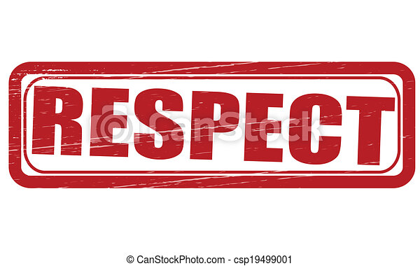 Vector Clipart of Respect - Stamp with word respect inside ...