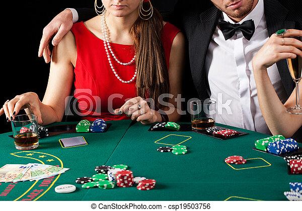 Casino gambling couple - csp19503756