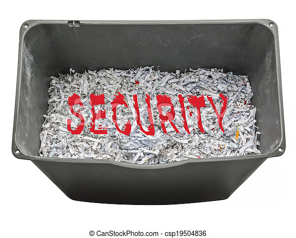 Shredded paper for security - csp19504836