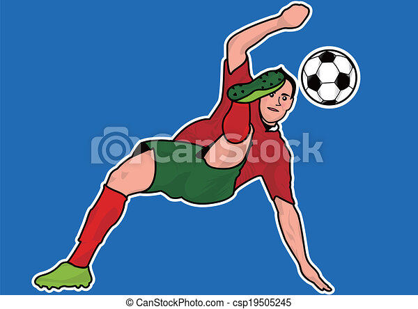 EPS Vector of Soccer player silhouette - Soccer player ...