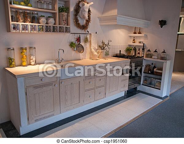 Plaatje van houten, moderne, ontwerp, klassiek, keuken   moderne ...
