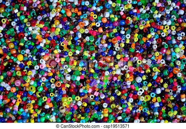 Plastic pony beads - csp19513571