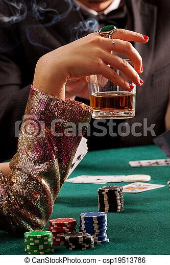 Whiskey and gambling - csp19513786