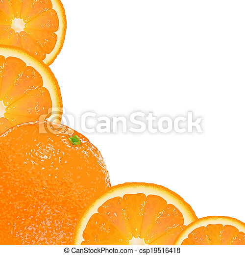 Orange Fruit Frame - csp19516418