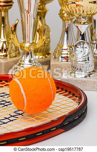 winning tennis tournaments - csp19517787