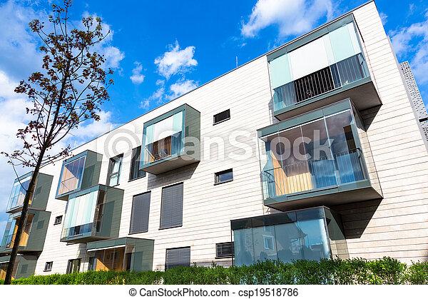 Modern residential architecture. - csp19518786