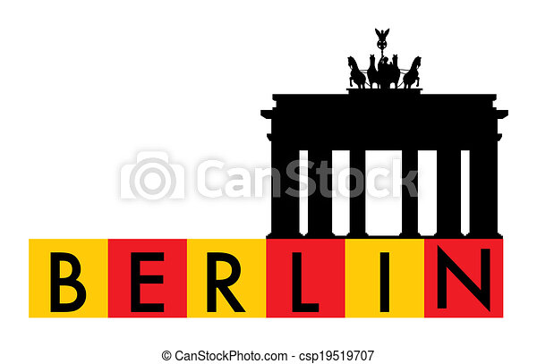 Vector Clipart of Berlin, Germany - Berlin, Brandenburger Gate ...: www.canstockphoto.com/berlin-germany-19519707.html
