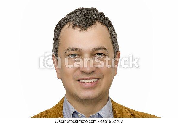 Hispanic Man Smiling Makeover - csp1952707