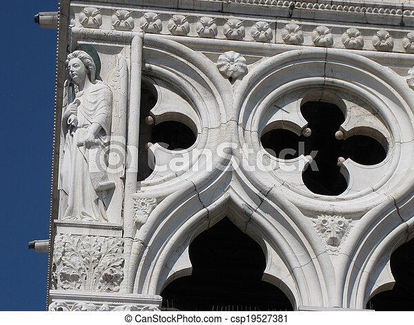 venice italy famous historic facade - csp19527381